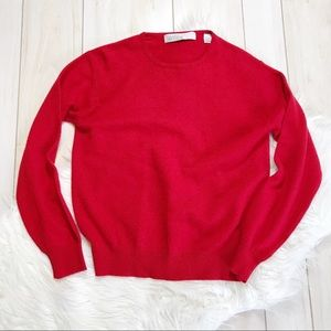 Valerie Stevens Red Two-Ply Cashmere Sweater
